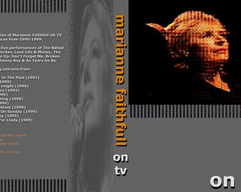 Marianne Faithfull Complete TV Performances 1990-1999 DVD