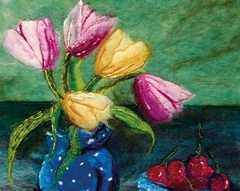 Moy Mackay Felt Painting Kit - Tulips and Cherries