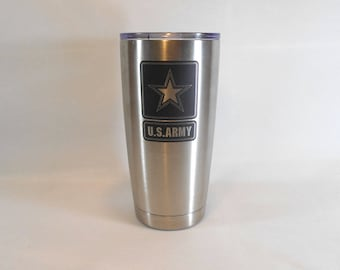 Army Yeti Style Cup, Tumbler, 20oz, Stainless Steel Vacuum Insulated, Army Gift