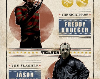 "Freddy vs. Jason 11""x17"" Print"
