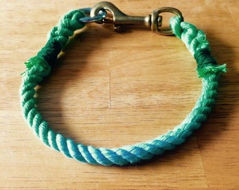 Rope dog collar with custom colors