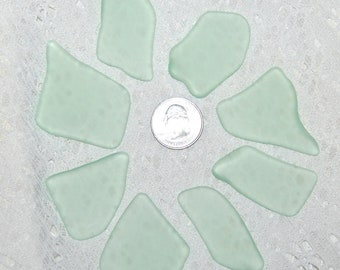 Faux Sea Glass - light lime green - 8 undrilled pieces