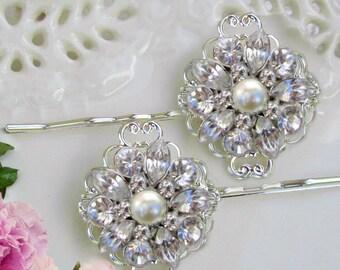 Wedding Hair pins, Bridal Hair Clip,Pearl hair comb, pearl bobby pins, Comb or clip, Ivory or white pearl, Wedding hair comb, Pearl Barrette