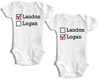 Triplets baby shower gift triplets clothing triplets gift twins baby gifts twin outfit twin baby clothes twin personalized outfit matching negle Image collections