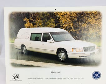 Cadillac Hearse Calendar /  Death / Mortician / Funeral Director / Embalming / Rare Beauty Vintage