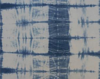 Hand-dyed Indigo Shibori on Cotton