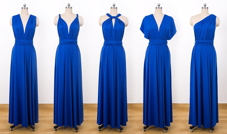 Royal Blue Maxi Infinity Dress Convertible Bridesmaid Dress