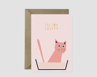 Feline Crappy Cat Card