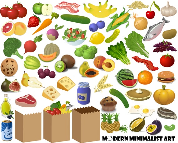 60 pngs food clipart grocery clipart grocery shopping food rh etsystudio com grocery clipart images grocery clipart png