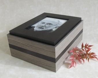 Milan human urn, Human ash urn, ash container, large wooden urn, container for ashes, box for ashes, memorial urn