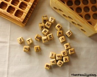 Big Boggle Word Game Wooden Letter Family Classic Puzzle