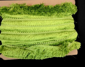 BF4018 14 Bellagio Green Brush Fringe Trim