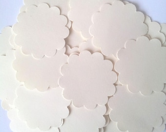 40 round labels in Bristol Board-unbleached - diameter 3.5 cm