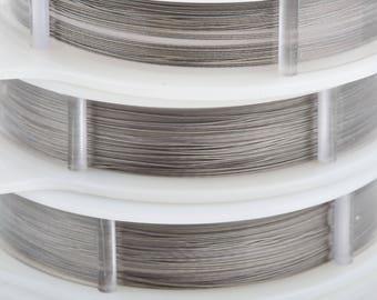 30 feet Beadalon Bead Stringing Wire, 19 strand, 0.010 in, 0.25mm, bright stainless steel, wir0095