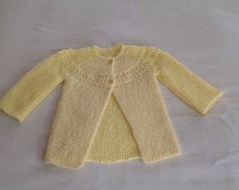 Hand knit sweater/jacket for baby girl