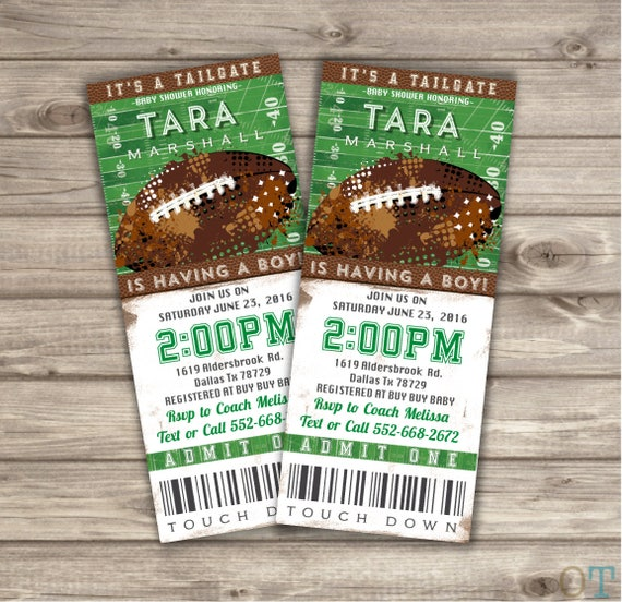 Tailgate Baby Shower Invitation