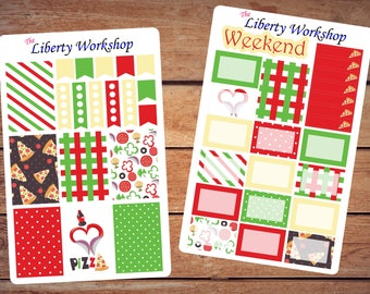 I heart Pizza * CHP weekly planner sticker set