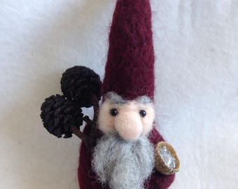 Forest Acorn Wizard Gnome Ooak Gift