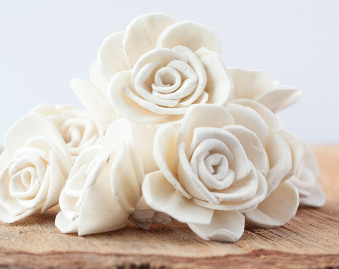 Marhia Rose Sola Flowers - SET OF 10 , Sola Flowers, Wood Sola Flowers, Artificial Flowers, Balsa Wood Flowers, Craft Flowers