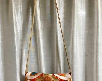 Japanese Vintage Kimono Obi silk crossbody bag