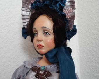 OOAK art doll  Suzanne Made of polymer clay Handmade doll