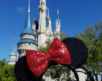Black Sequin Minnie Mouse Ears