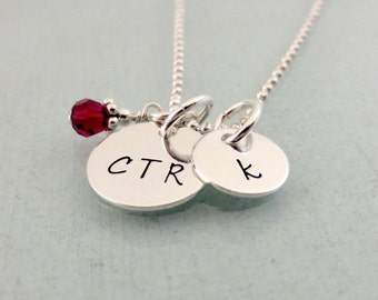 Personalized CTR Necklace - Initial Necklace - Choose The Right Necklace - LDS - Baptism Necklace - Faith Jewelry - Birthstone Initial Charm