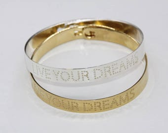 Rush live your dreams plated gold or silver