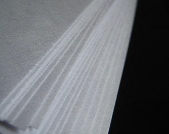 Marbling Paper - Japanese Masa - 25 Sheets 5 x 10.5 inches - White Paper Marbling Supplies Printmaking