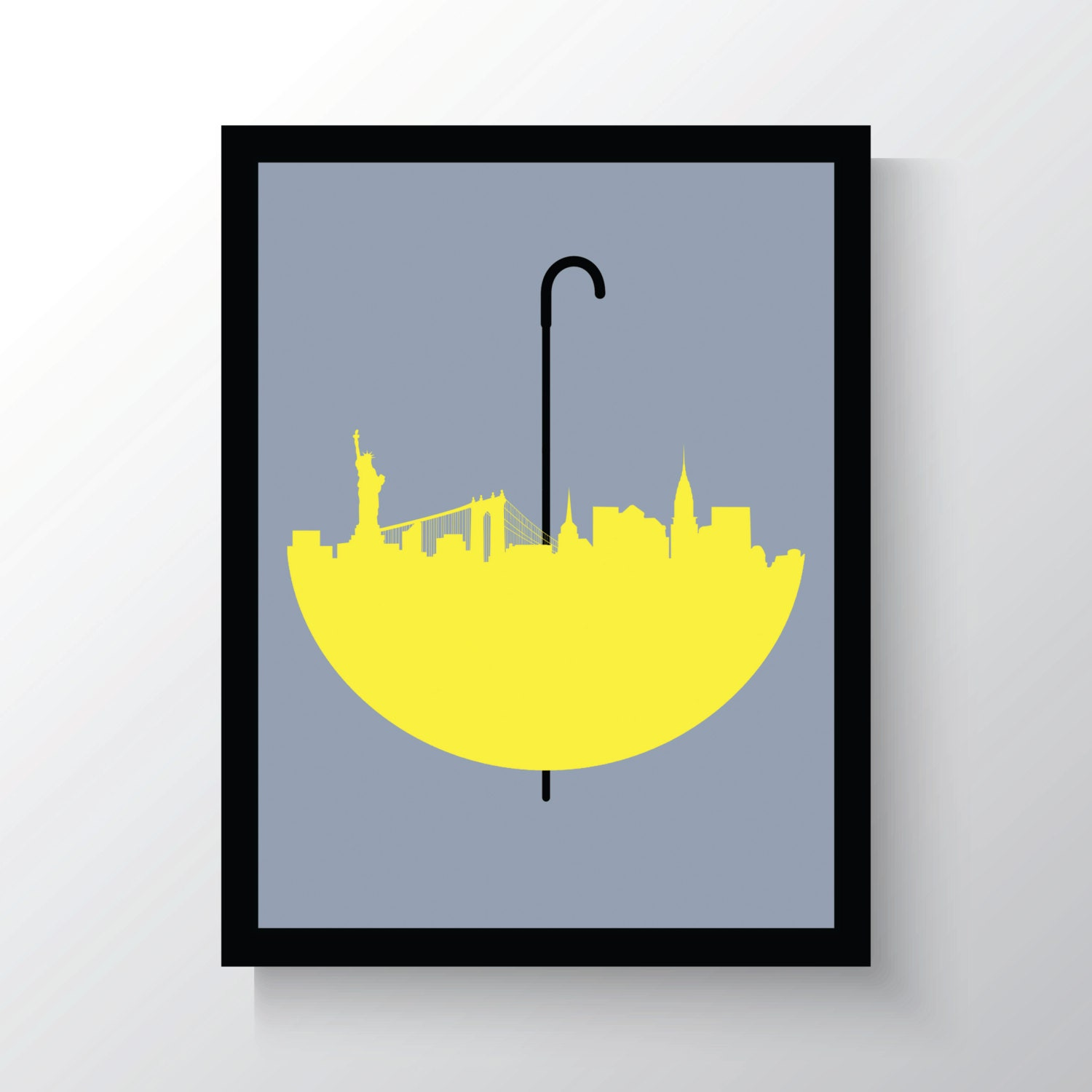 Yellow Wall Art How I Met Your Mother Wall Art Print New York Skyline