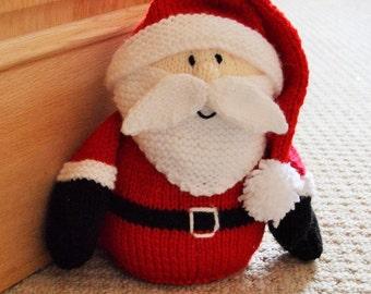 KNITTING PATTERN - Santa Doorstop Knitting Pattern Download From Knitting by Post