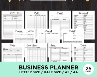 Small Business Planner Printable Home Business Planner Insert Productivity Planner Goal Planner Printable Order Form Download Sales Tracker