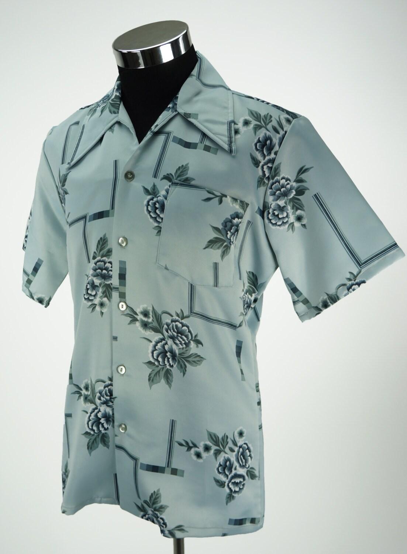 Vintage Paul Howard California Polyester Floral Mens Shirt Size M nUZ6YsmuVR