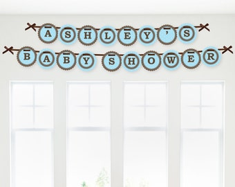 Mommy-To-Be Silhouette – It's A Boy Banner - Custom Party Decorations