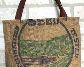 Feed Sack Recycled Bag Tote Handbag
