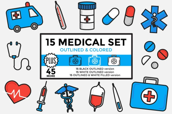 medical clipart healthcare clipart hospital clipart set rh etsy com medical image clipart free medical clipart images