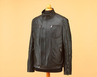 Men jacket • leather jacket • jacket • black leather jacket • biker jacket • mens leather jacket • black jacket • custom jacket