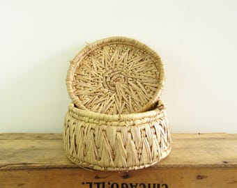 Natural Lidded Basket