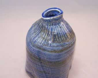 Ceramic Vase in Translucent Blue Cool Water Vase