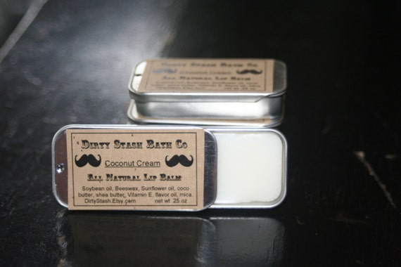 Spearmint Essential oil Lip Tin made with Organic ingredients .25