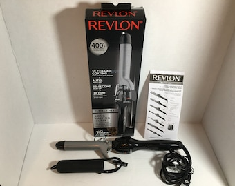 Revlon Perfect Heat Long Lasting Medium Curls Weaves 3X Ceramic Curling Iron