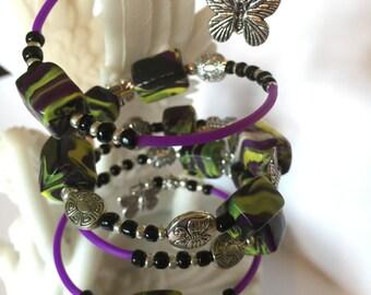Polymer Clay Butterfly Bracelet