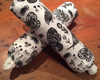 Black & White Butterfly/Bird Plastic Bag Dispensers/Holders, Hand Made, Various 50cm x 40cm