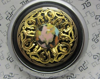 Compact Mirror Golden Sunset Bridesmaid Gift Comes With Protective Pouch