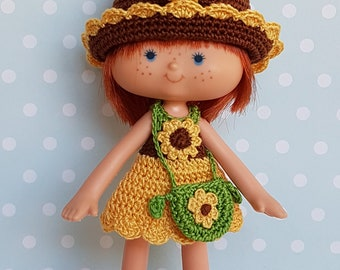 Strawberry Shortcake 4 Pc Outfit Set Sunflower