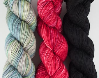 Worsted 3 Pack #15 - Hand-dyed Worsted Yarn