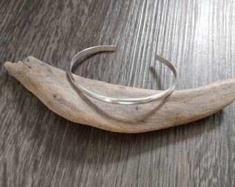 Sterling silver bracelet, simple bracelet, minimal look, silver jewelry, women jewelry