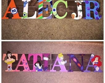 Custom painted letters