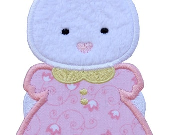 Easter Bunny Girl  Applique Embroidered Patch , Sew or Iron on