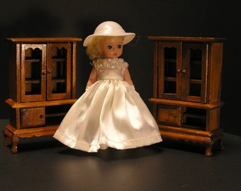 Vintage Handmade Dollhouse China Hutch Set (1962)